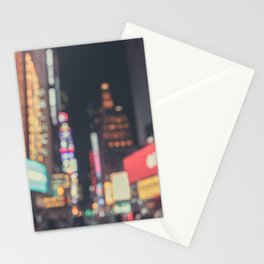Times Square Abstract Stationery Cards
