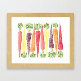 Rainbow Carrots (Wide) Framed Art Print