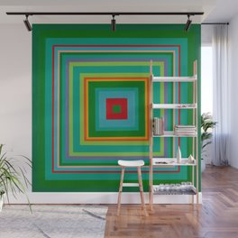 """""""Pop Ring Green""""   Op art Wall Mural"""