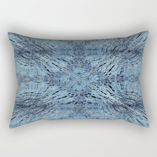 Spun Denim Mandala Rectangular Pillow
