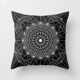 Geometric Circle Black/White/Colour Throw Pillow