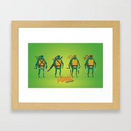 Ninja Turtles - Pixel Nostalgia Framed Art Print