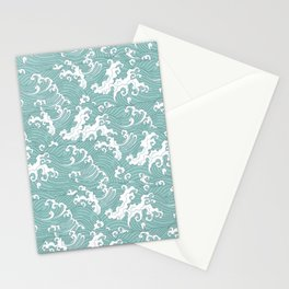 Traditional Hand Drawn Japanese Wave Ink Stationery Cards