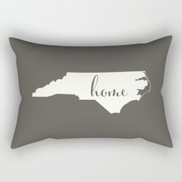 North Carolina is Home - White on Charcoal Rectangular Pillow