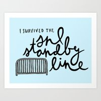 snl Art Prints featuring SNL Standby by Liana Spiro