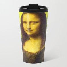 Mona Lisa's Haze (yellow) Metal Travel Mug