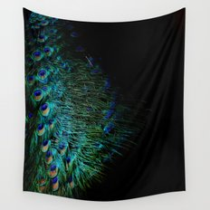 Peacock Details Wall Tapestry