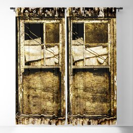 Window in a tin wall Blackout Curtain