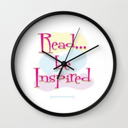 Read..be Inspired Wall Clock