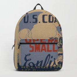 Vintage poster - Coast Guard Backpack