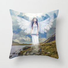 Angels Protection Throw Pillow
