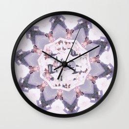 Marble Inlay Wall Clock