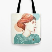 virginia Tote Bags featuring Dear Virginia... by flaviasorr