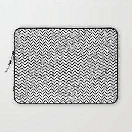 Black & White Hand Drawn ZigZag Pattern Laptop Sleeve