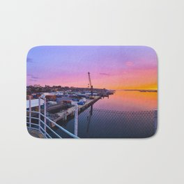Sunrise over Portland, Maine Bath Mat