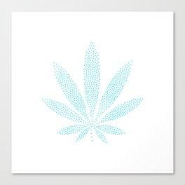 Cannabis Refresh Blue Canvas Print