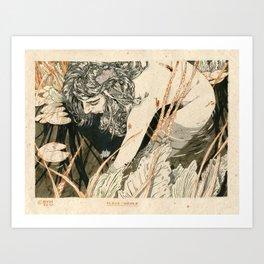 The black water Art Print