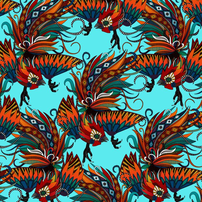 rooster ink turquoise Comforters