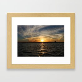 Sunlit Senses Framed Art Print