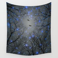 the fault Wall Tapestries featuring The Sight of the Stars Makes Me Dream by soaring anchor designs