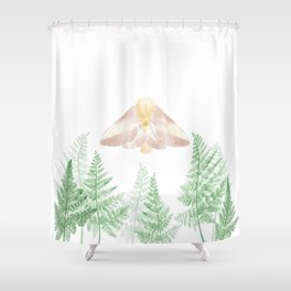 Rosy Maple Moth Shower Curtain