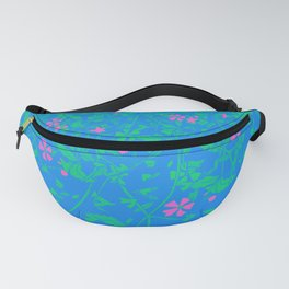 Polysexual Pride Scattered Falling Flowers and Leaves Fanny Pack