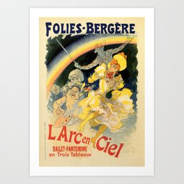 The rainbow L'arc en ciel ballet Art Print