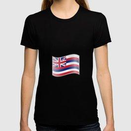 Waving Flag of Hawaii  T-shirt