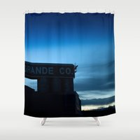 rio Shower Curtains featuring Rio Grande by Andrew C. Kurcan