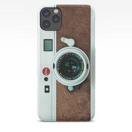 Retro vintage leather camera iPhone Case