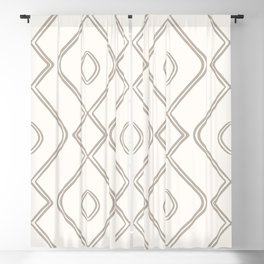 Modern Boho Ogee in Cream Blackout Curtain