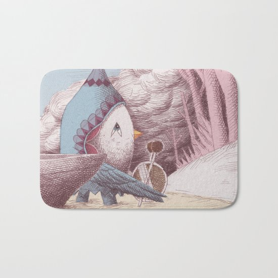 Drummer Bird - Arriving Bath Mat