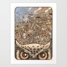 Hutom Art Print