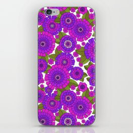Busy bunch purple iPhone Skin