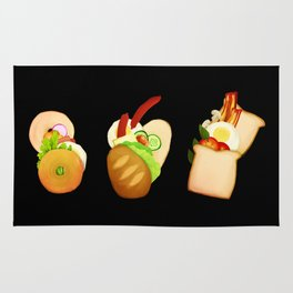 Bread and Sandwiches Rug