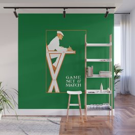 Game set and match retro tennis referee Wall Mural