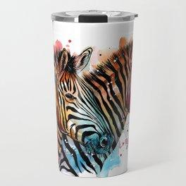 Sunset Zebras Travel Mug