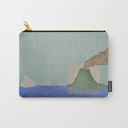 Volcano Meets Iceberg Carry-All Pouch