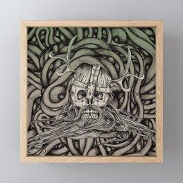 Old Viking Framed Mini Art Print