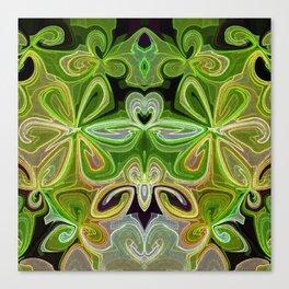 Green Lotus Large Canvas Print