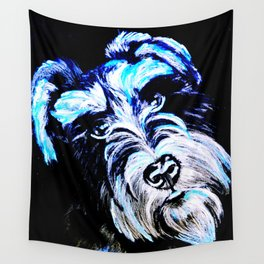 Blue Schnauzer Wall Tapestry