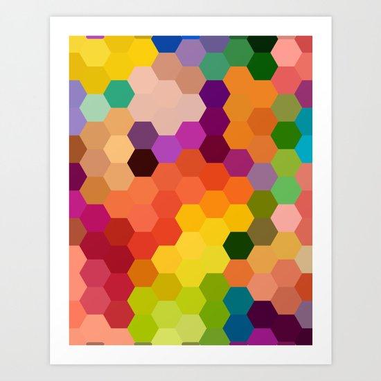Honeycomb 1 Art Print