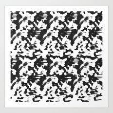 Animal on the run  Art Print