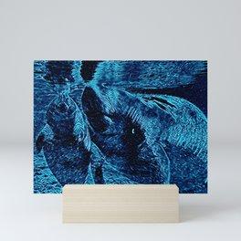 Sea Cows at Play Mini Art Print