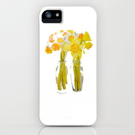 Daffodils watercolor iPhone Case