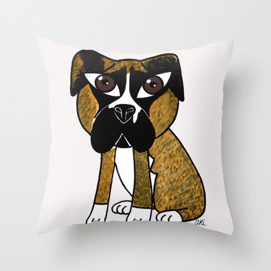 Greta, the dog that stares at you Throw Pillow