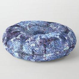 Iris Mandala Blue Floor Pillow