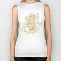 asian Biker Tanks featuring Asian Witch by Jenna V Genio