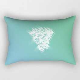 White Diamond Made Of Ink Rectangular Pillow