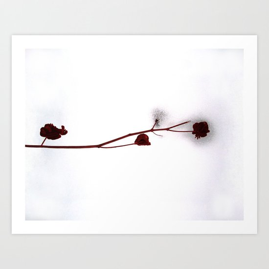 Red Over White Art Print